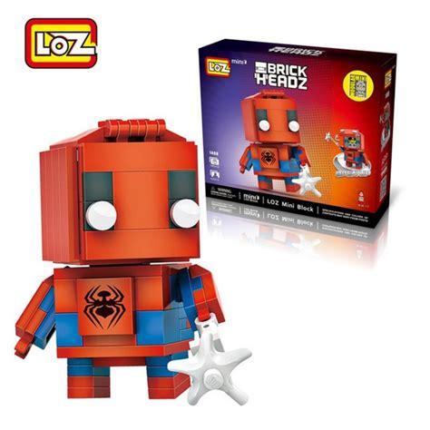 loz 1408 brick headz 145 pcs mister model