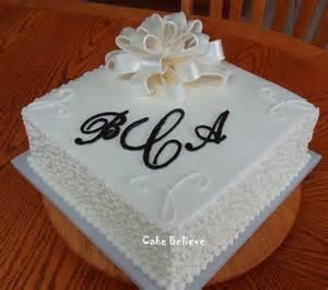wedding shower cakes cake believe black and white wedding shower