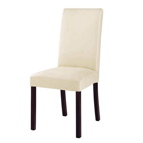chaise cuir et bois chaise en croûte de cuir et bois ivoire harvard maisons