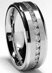Titanium Mens Wedding Rings Wedding Promise Diamond