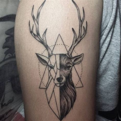 deer tattoos dd deer tattoo tattoos geometric tattoo