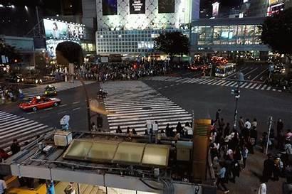 Japan Tokyo Street Crossing Shibuya Pedestrians Chaos