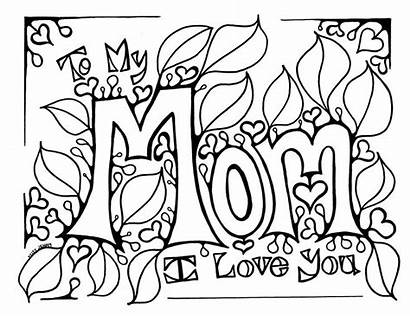 Coloring Mom Pages Mother Tattoo Mothers Valentine