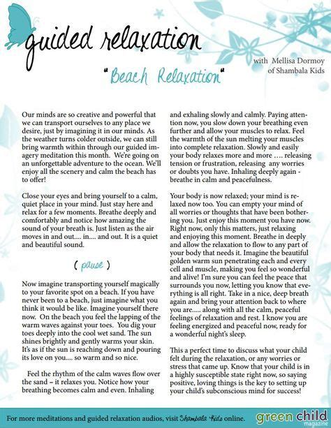 Guided Relaxation Scripts Relaxation Scripts Meditation