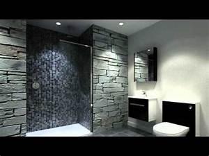 realisez une petite salle de bain design youtube With salle de bains design photos