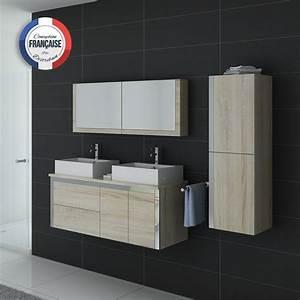 Meuble de salle de bain deux vasques dis026 1300sc meuble for Meuble double vasque petite largeur