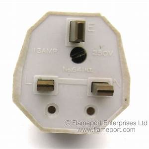 Unbranded White Plastic 13a Plug