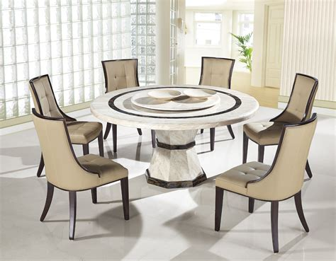 round marble kitchen table and chairs modern round dining set