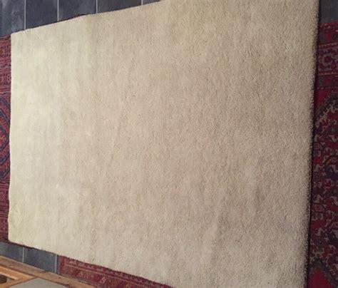ikea stoense large rug  white light beige