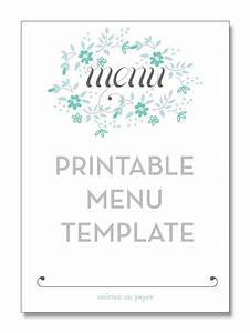 printable menu template from smitten on paper tea party With tea party menu template