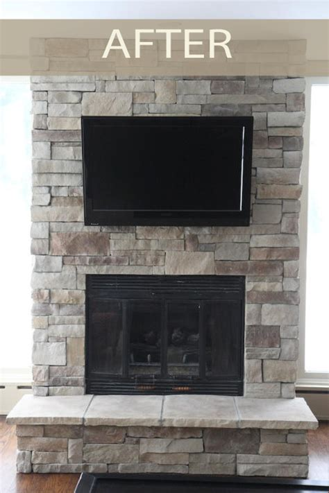 Before & After Stone Fireplaces  North Star Stone
