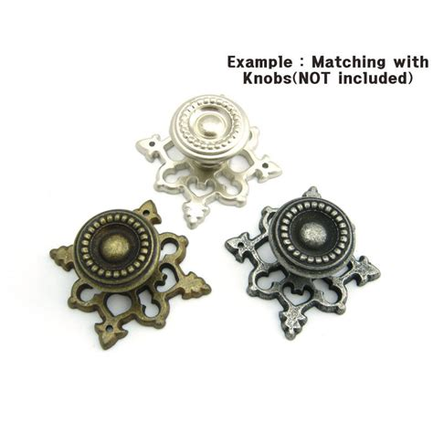 antique style decorative  plate  cabinet knobs