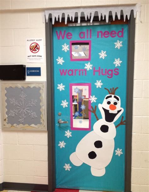 olaf door classroom ideas christmas classroom door