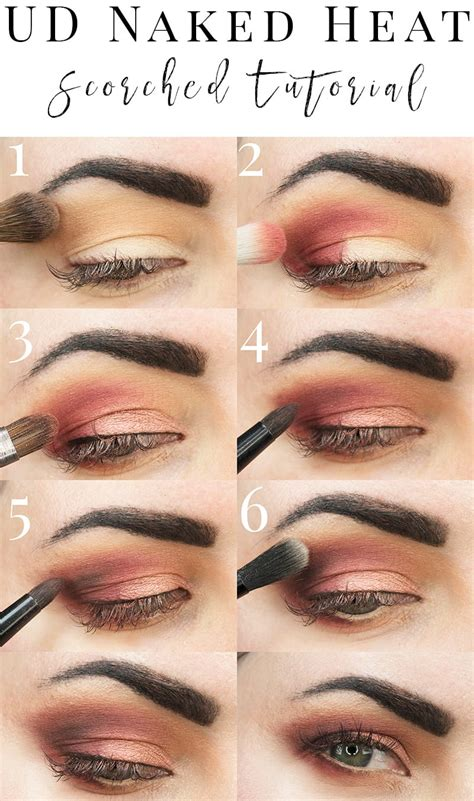 urban decay naked heat scorched tutorial  red eyeshadow