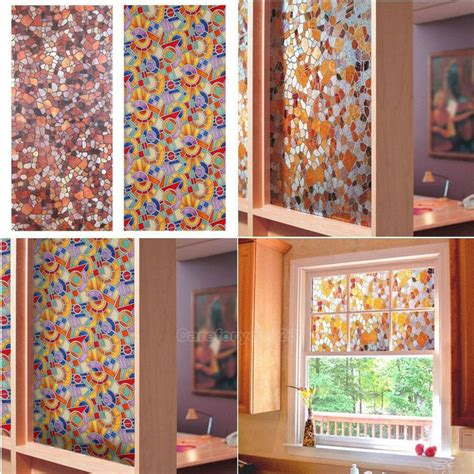 decorative static cling window 3d static cling stained glass paper frosted decorative