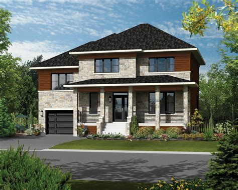 Contemporary Style House Plan 3 Beds 2 Baths 2080 Sq/Ft