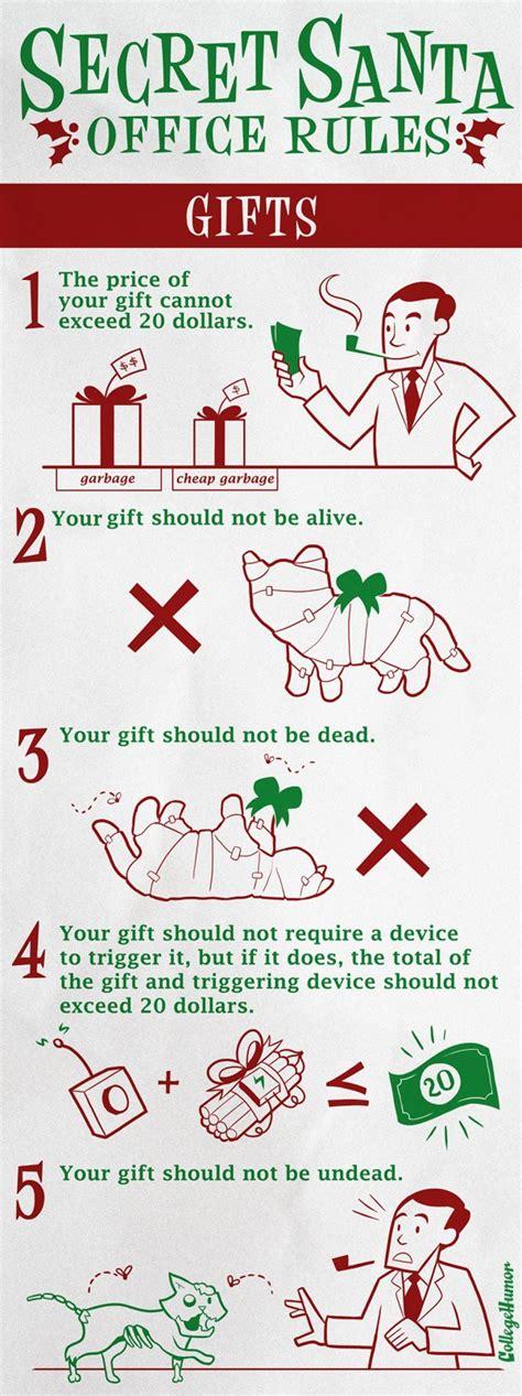 work gift exchange secret santa office visual ly