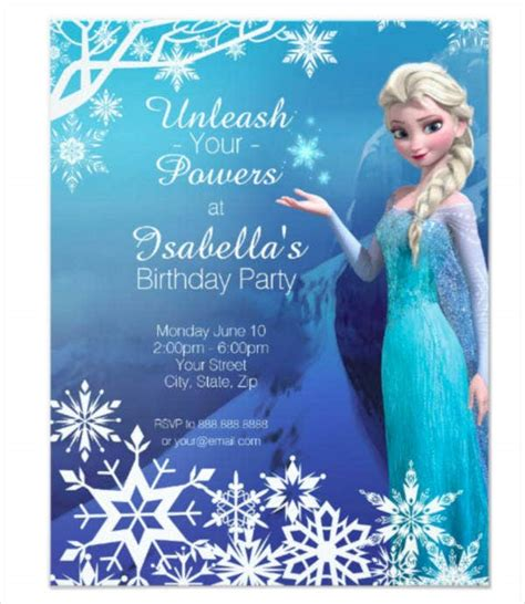 frozen party invitation templates psd ai vector eps