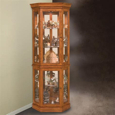 glass curio cabinet with lights lighted corner curio cabinet glass the clayton design