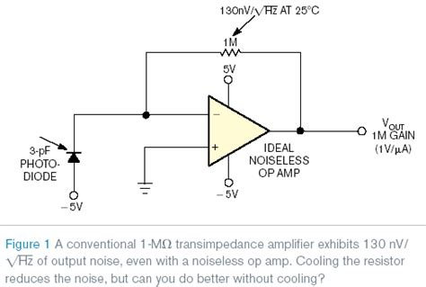 Photodiode Amplifier Exhibits One Third The Output Noise