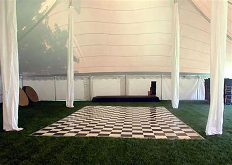 Black & White Checkerboard Dance Floor Rentals   NH, MA, ME