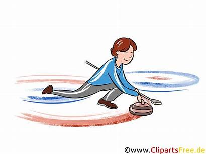 Curling Clipart Wintersport Cliparts Utklipp Clip Olympische