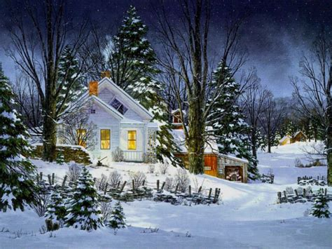 winter house painting background gallery yopriceville