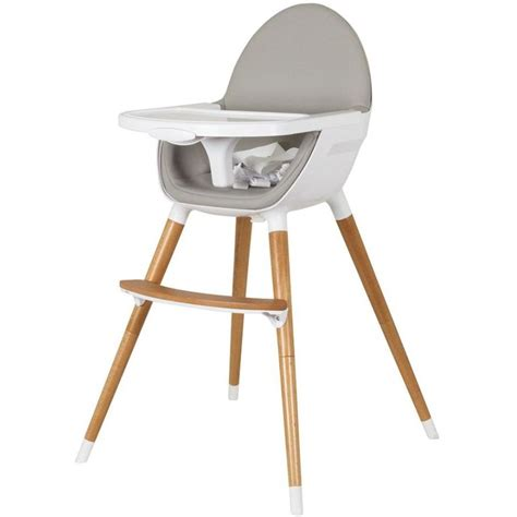 chaise haute bambikid childcare baby high chair w timber legs in white buy