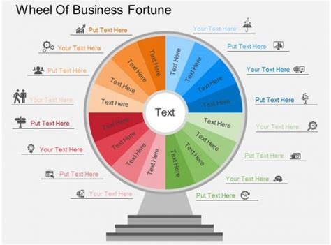 cw wheel  business fortune flat powerpoint design