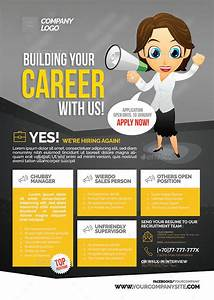 Character Letter Template Job Vacancy Flyer By Shamcanggih Graphicriver