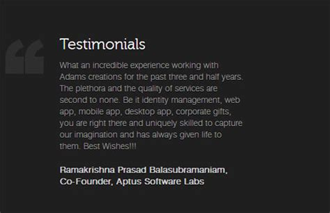 awesome client testimonial designs web graphic