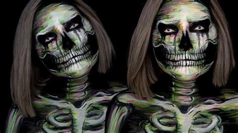 watercolor skull halloween makeup tutorial youtube