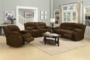 Weissman brown power reclining living room set 601924p for Reclining living room set