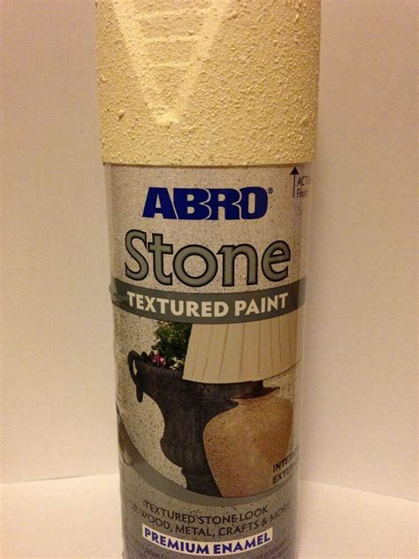 abro textured stone effect cream spray paint interior