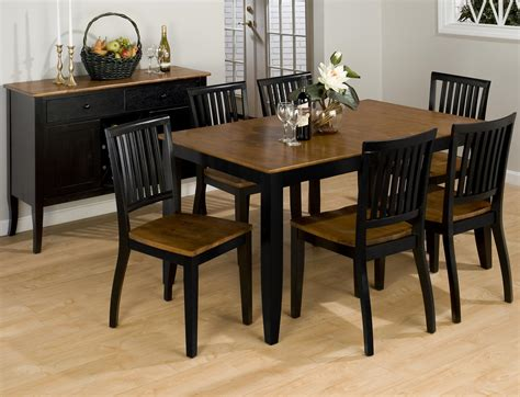 black dining room table set furniture rectangle black wooden dining table with brown