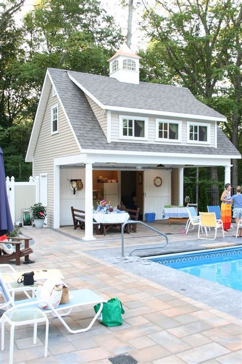 pool house designs with outdoor kitchen pool equipment sheds and hideaways infinity pools of 9146