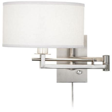 plug in wall ls for bedroom possini euro aluno plug in style swing arm wall light