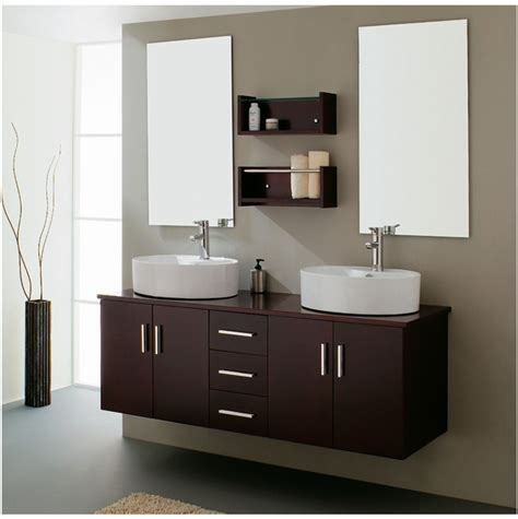 Modern Bathroom Double Sink  Home Decorating Ideas