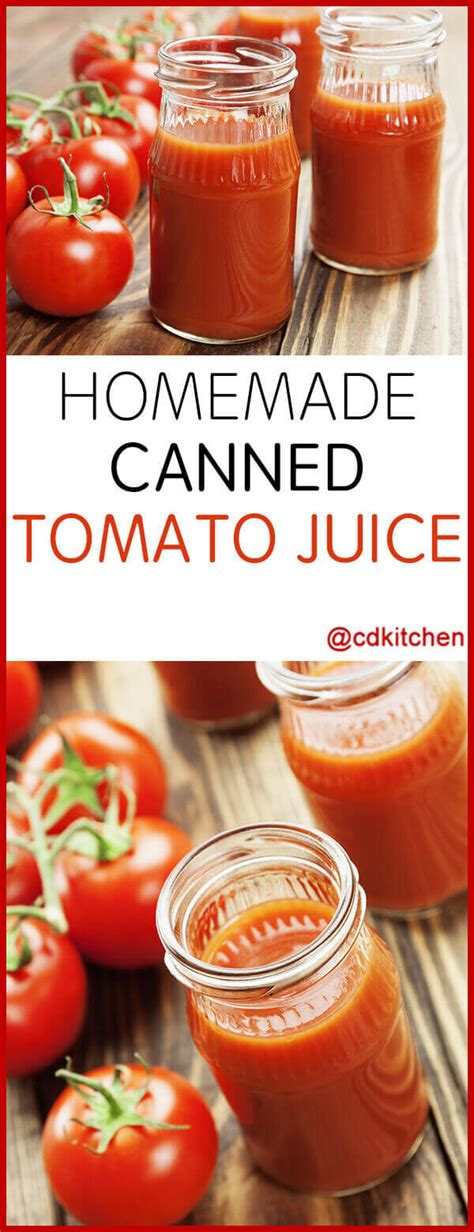 tomato juice homemade recipe canned cdkitchen canning recipes carrot soup