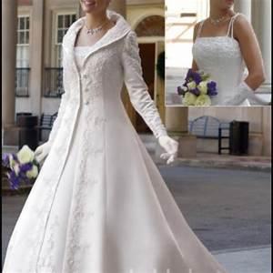 winter wedding dress i love the jacket not the dress With dress and coat for winter wedding
