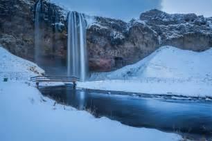 Seljalandsfoss Iceland Winter