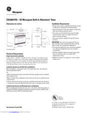 ge monogram zscfss manuals manualslib