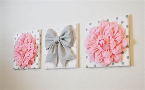 Wall Decor Etsy by Pink White Gray Wall Decor Baby Nursery Wall