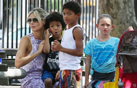 She appeared on the cover of the sports illustrated swi. Heidi Klum Keeps Her Children's Hair for Art Projects   Complex