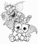 Gizmo Gremlins Coloring Template Printable Drawing Sketch Templates sketch template