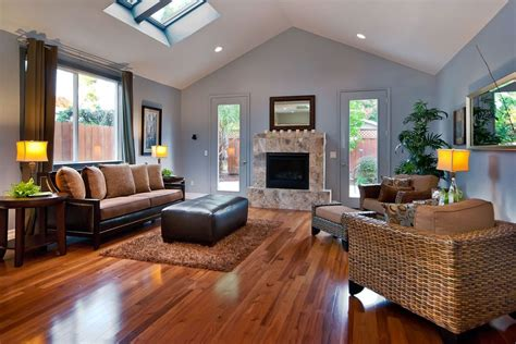 cherry living room floors living room contemporary with wicker furniture modern wall