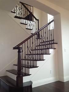 Wood & Iron Mediterranean Staircase san diego by