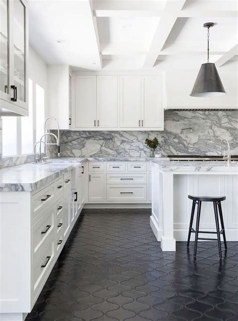 black and white kitchen flooring pros and cons kitchen flooringbecki owens 7854