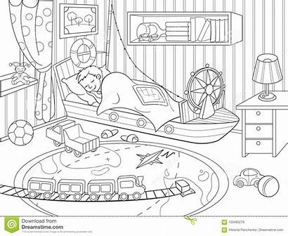 Coloring Childhood Theme Illustration Vector Child