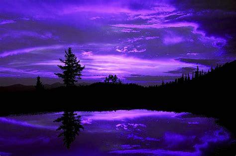 fondo pantalla paisaje lago  noche